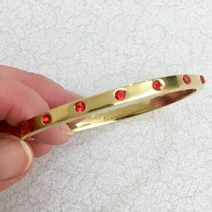 Beautiful NWOT Kate Spade red crystal bracelet!